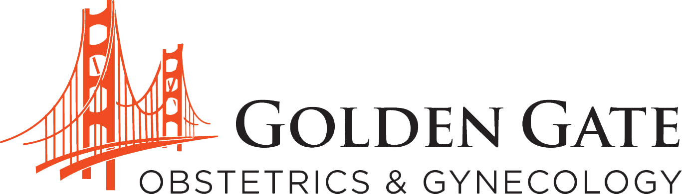 Golden Gate OBGYN bridge logo with dark text.